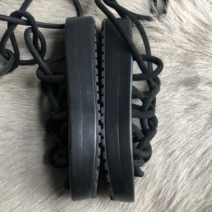 All Saints Shoes - New All Saints Kofu Black Platform Sandals 38